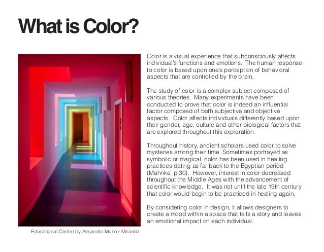 independent study the psychology of color in an interior