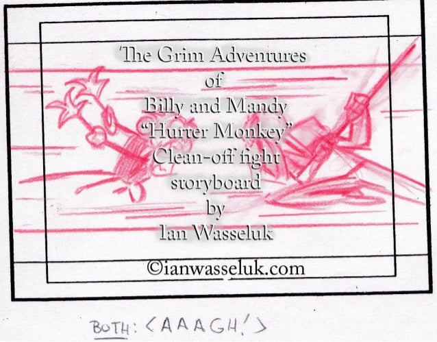 Billy and Mandy clean-off fight