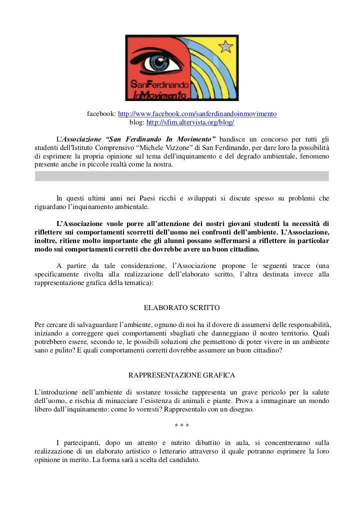 facebook: http://www.facebook.com/sanferdinandoinmovimento                                blog: http://sfim.altervista.org...