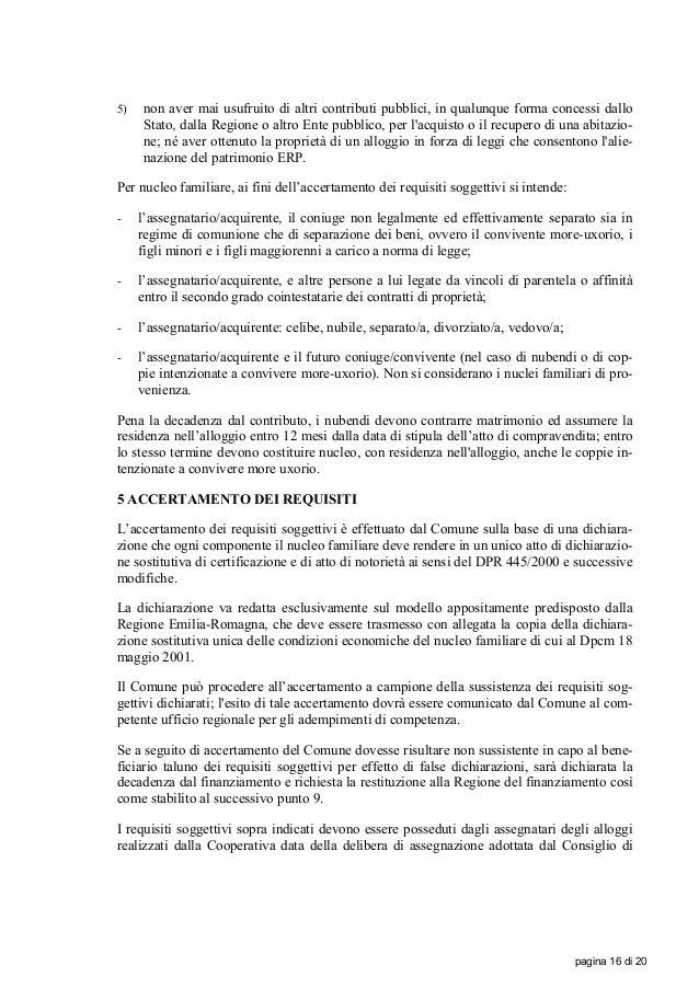 Bando finanziamento regione emilia romagna 20 marzo 2011 for Separazione o comunione dei beni