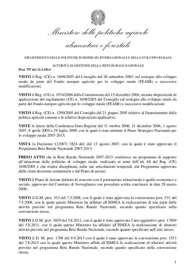 Ministero delle politiche agricole alimentari e forestali DIPARTIMENTO DELLE POLITICHE EUROPEE ED INTERNAZIONALI E DELLO S...