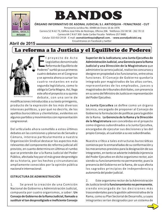 ASONAL JUDICIAL S.I. ANTIOQUIA ASONAL JUDICIAL S.I. ANTIOQUIA