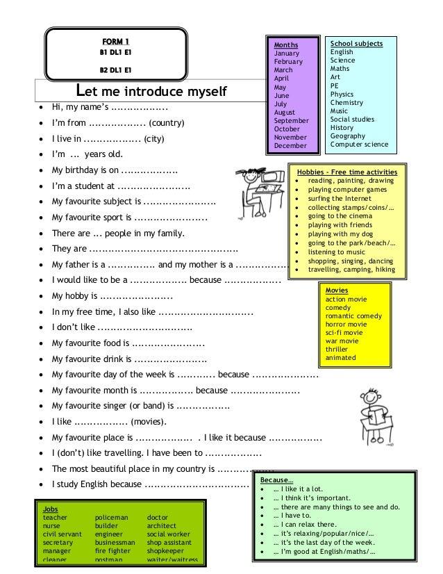 English Language Placement Test Sample