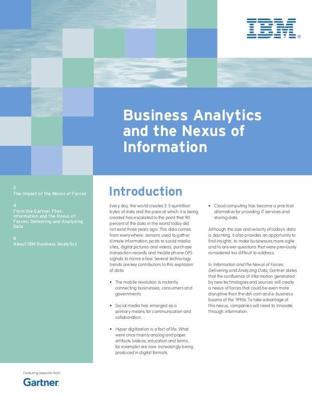 Business Analytics                                          and the Nexus of                                          Info...