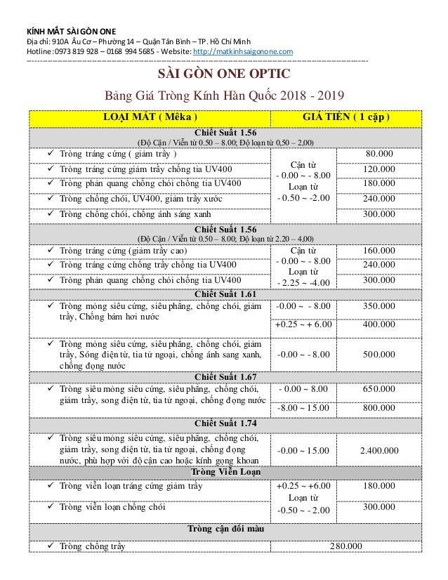 KÍNH MẮT SÀI GÒN ONE Địa chỉ: 910A ÂuCơ – Phường14 – QuậnTân Bình – TP. Hồ Chí Minh Hotline:0973 819 928 – 0168 994 56...