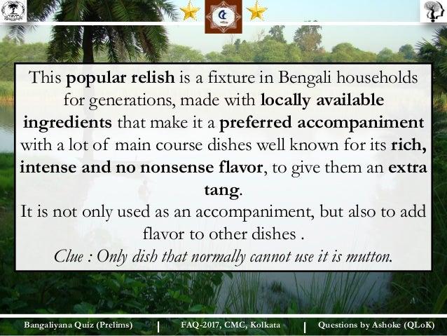 Bangaliyana Quiz (Prelim)