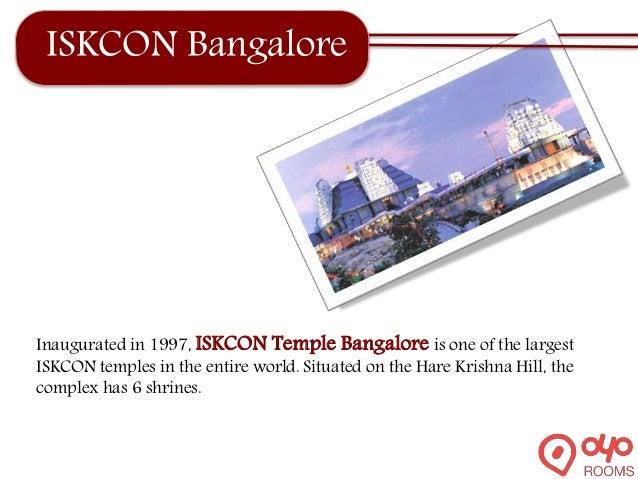 ISKCON Bangalore Inaugurated in 1997, ISKCON Temple Bangalore is one of the largest ISKCON temples in the entire world. Si...