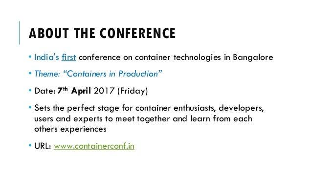 Bangalore Container Conference - Sponsor Deck Slide 2