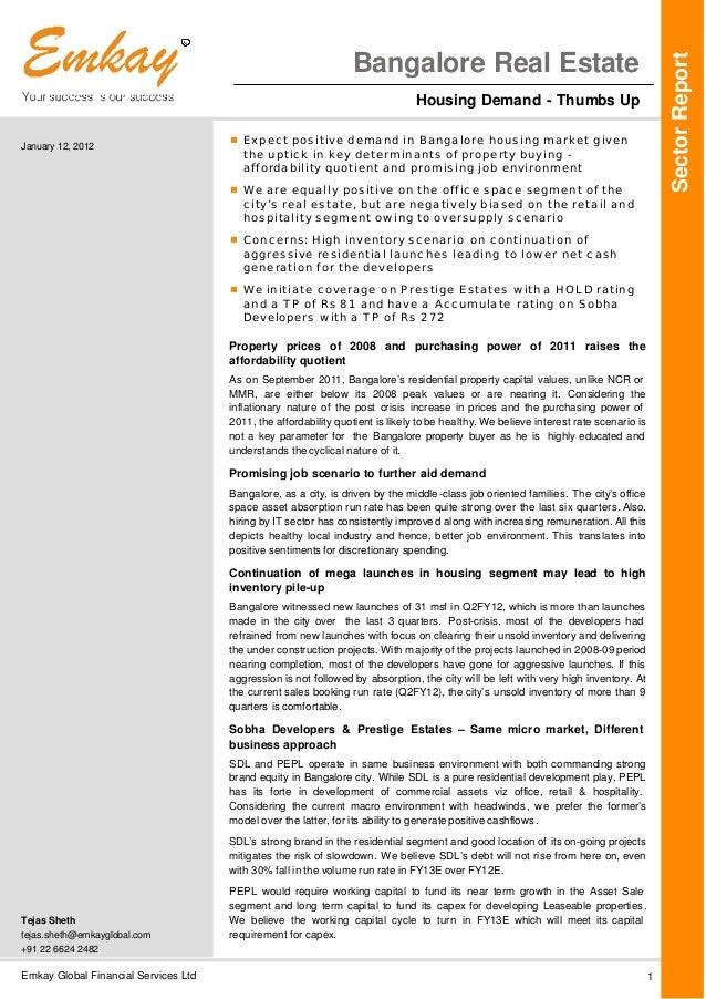 Emkay Global Financial Services Ltd 1January 12, 2012Tejas Shethtejas.sheth@emkayglobal.com+91 22 6624 2482SectorReportBan...