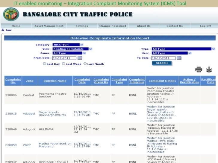 Bangalore Traffic Police B-Trac