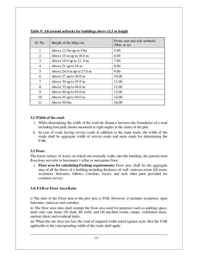 Bangalore Zoning Regulations