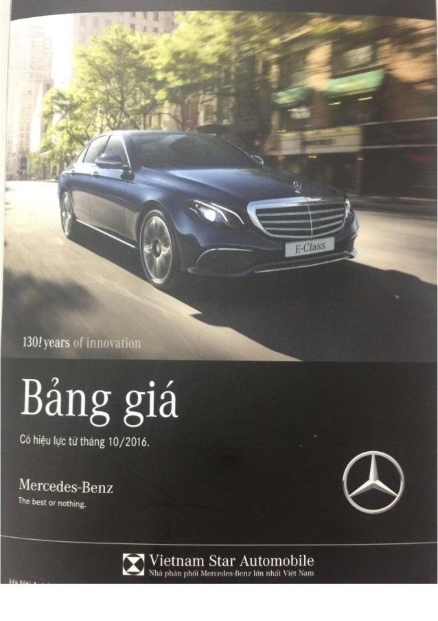 Bảng báo giá xe hơi Mercedes Việt Nam chính hãng tốt nhất