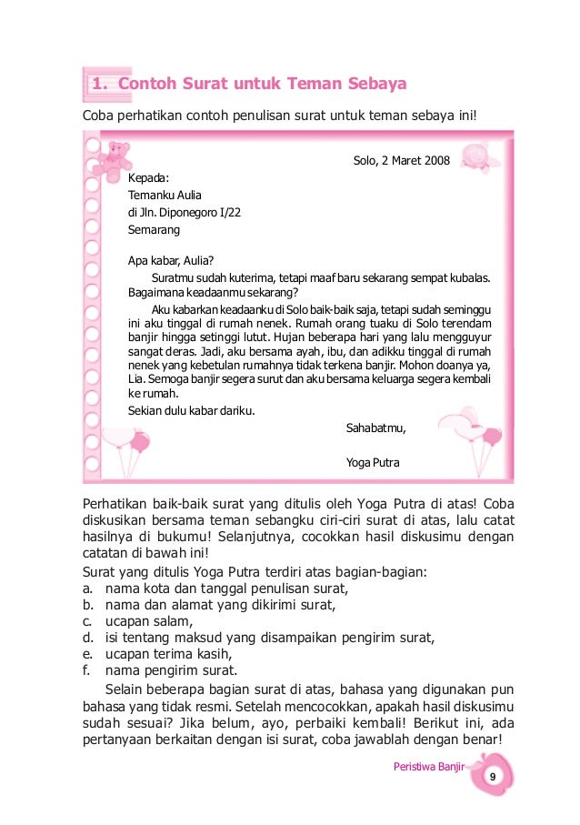 Contoh Surat Untuk Sahabat Informasi Seputar Dunia Militer
