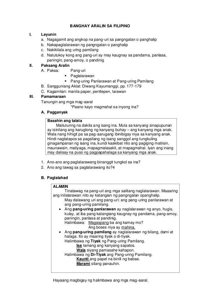 Pang Angkop Worksheets For Grade 3