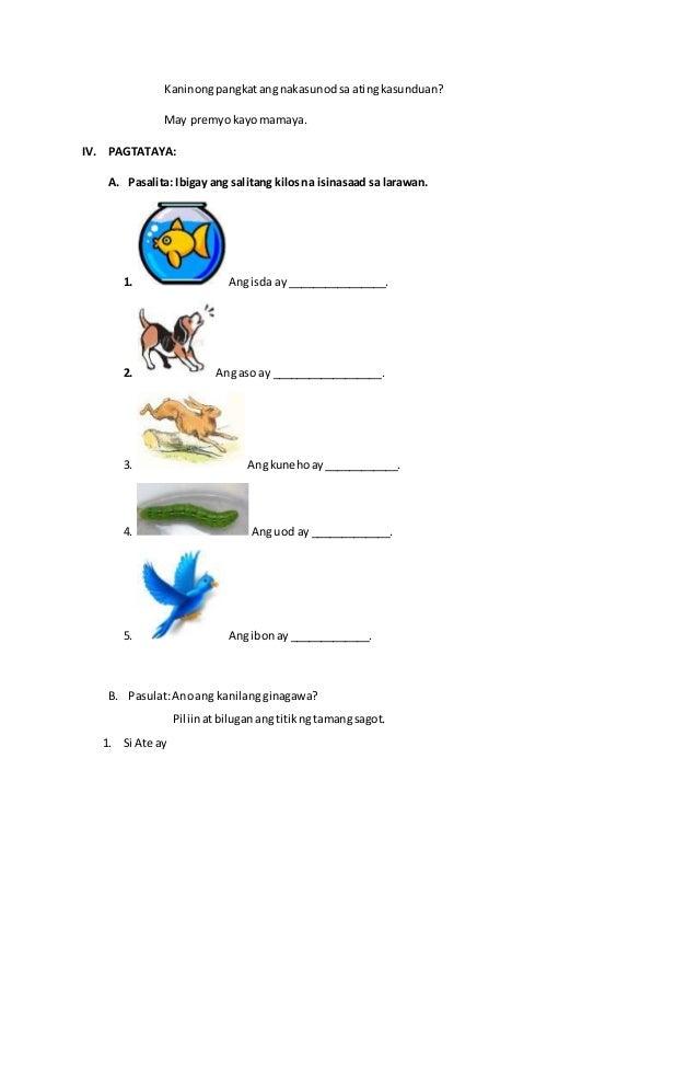 Banghay aralin sa filipino 1 salitang kilos Slide 3