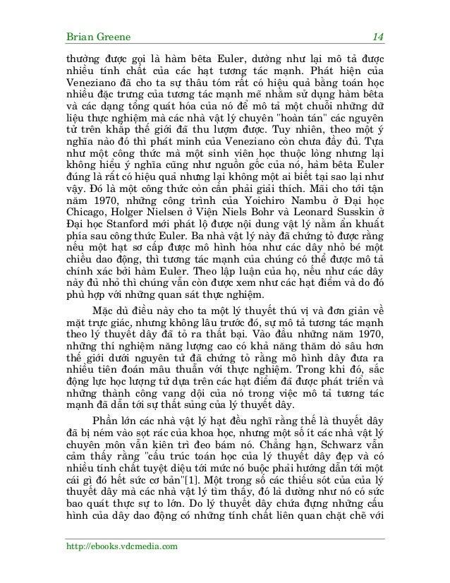 Brian Greene 14 http://ebooks.vdcmedia.com thûúâng àûúåc goåi laâ haâm bïta Euler, dûúâng nhû laåi mö taã àûúåc nhiïìu tñn...