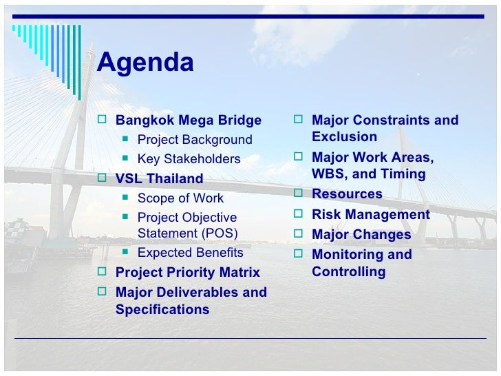 Bangkok mega bridge project management