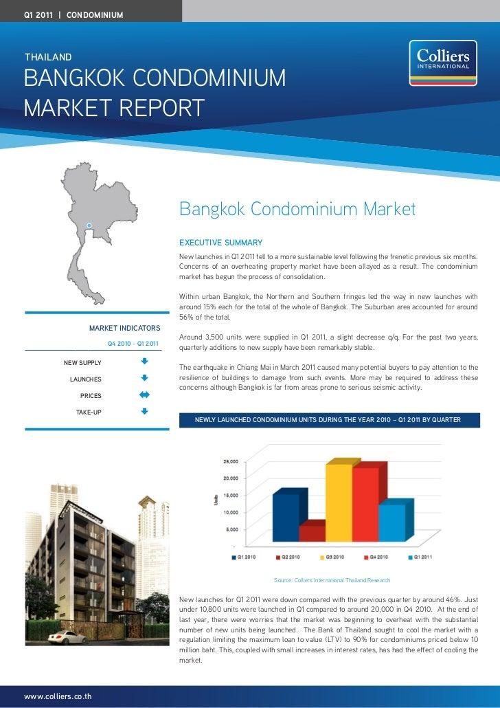 Q1 2011 | CondominiumTHAIlAndBangkok Condominiummarket rePort                                            Bangkok Condomini...