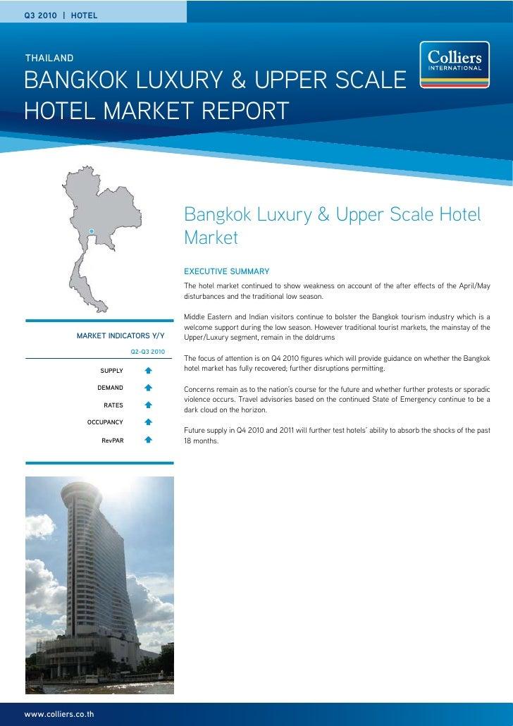 Q3 2010   HOTELTHAILANDBANGKOK LUXURY & UPPER SCALEHOTEL MARKET REPORT                                           Bangkok L...