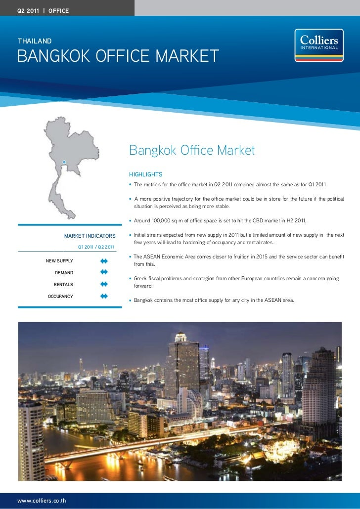 Q2 2011 | officethailanDBangkok office Market                                           Bangkok Office Market             ...