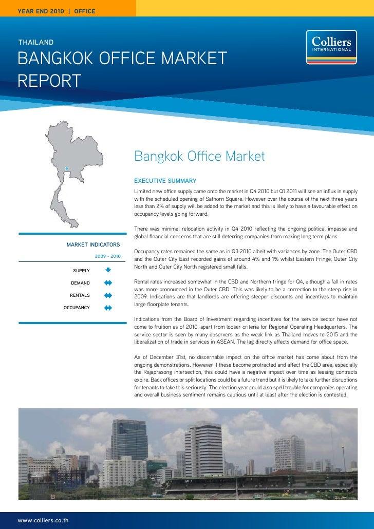year end 2010 | OFFICethailandBangkok office MarketrePort                                             Bangkok Office Marke...