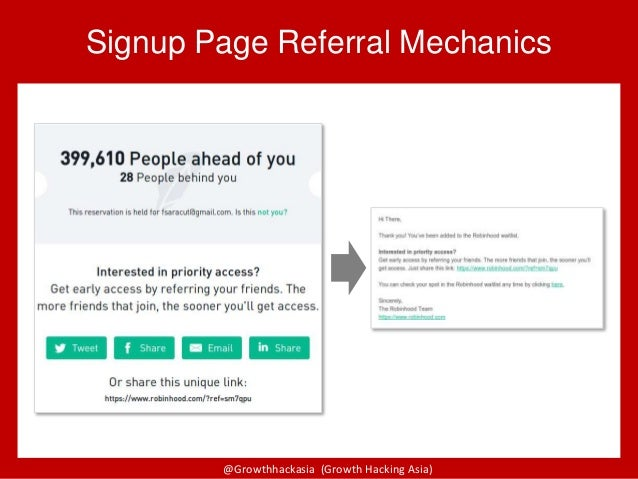 @Growthhackasia (Growth Hacking Asia) Signup Page Referral Mechanics