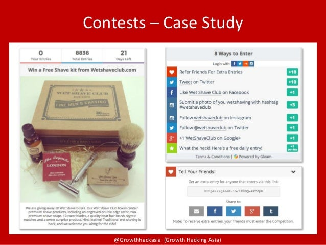 @Growthhackasia (Growth Hacking Asia) Contests – Case Study