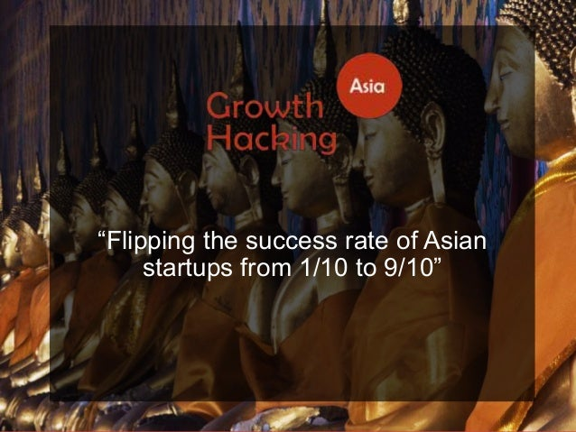 """@Growthhackasia (Growth Hacking Asia) """"Flipping the success rate of Asian startups from 1/10 to 9/10"""""""