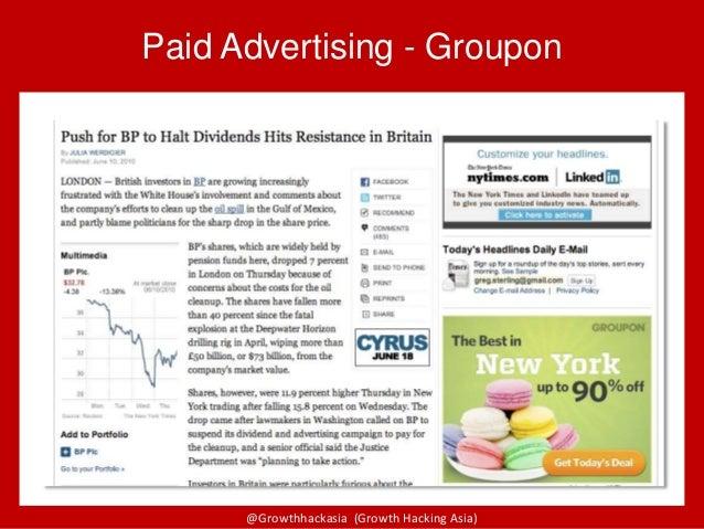 @Growthhackasia (Growth Hacking Asia) Paid Advertising - Groupon