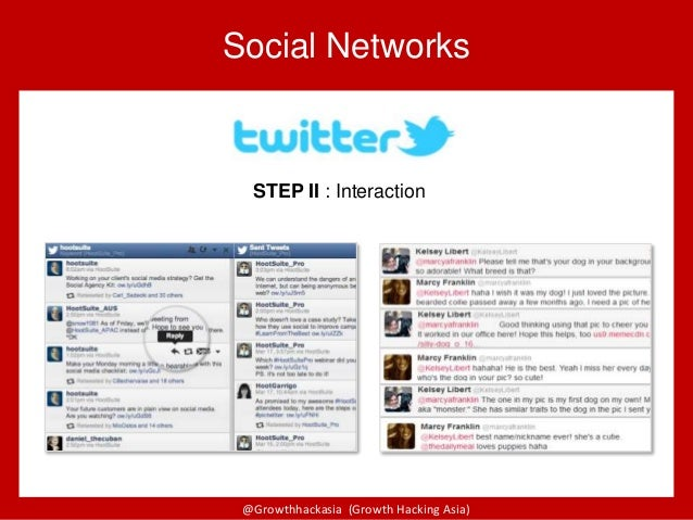 @Growthhackasia (Growth Hacking Asia) Social Networks STEP II : Interaction