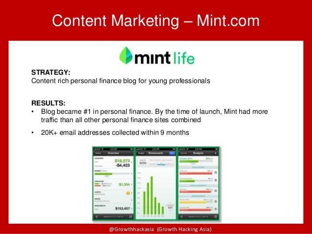 @Growthhackasia (Growth Hacking Asia) STRATEGY: Content rich personal finance blog for young professionals RESULTS: • Blog...