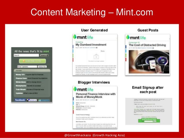 @Growthhackasia (Growth Hacking Asia) Content Marketing – Mint.com User Generated Guest Posts Blogger Interviews Email Sig...