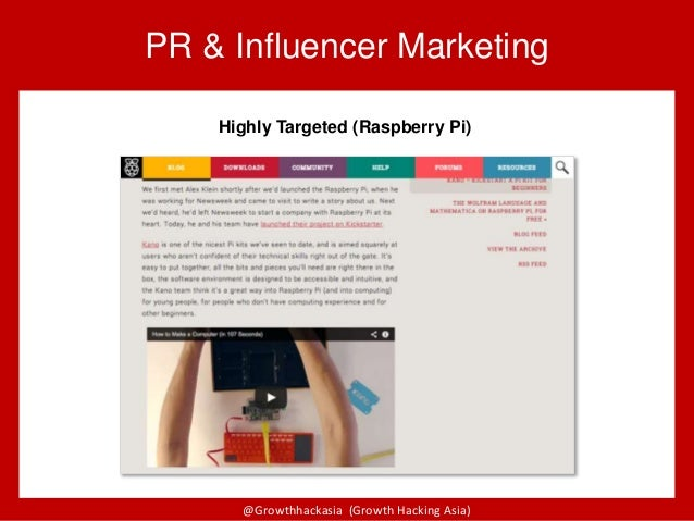 @Growthhackasia (Growth Hacking Asia) PR & Influencer Marketing Highly Targeted (Raspberry Pi)