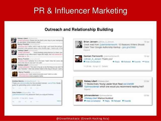 @Growthhackasia (Growth Hacking Asia) PR & Influencer Marketing Outreach and Relationship Building