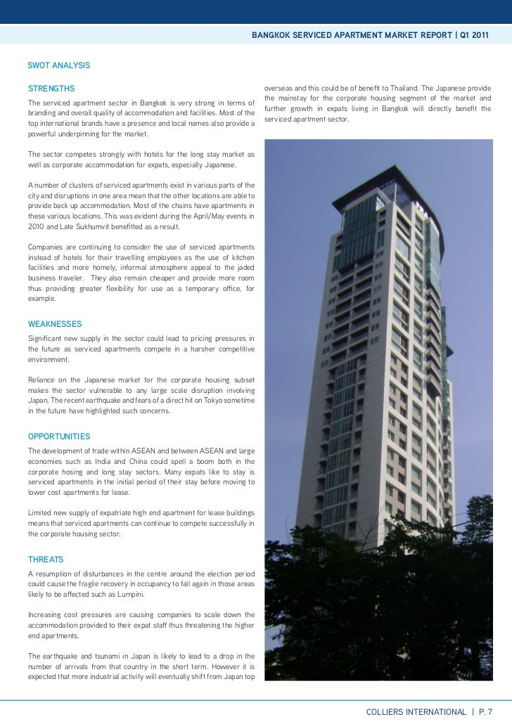 Bangkok Serviced Apartment Market Q1 2011