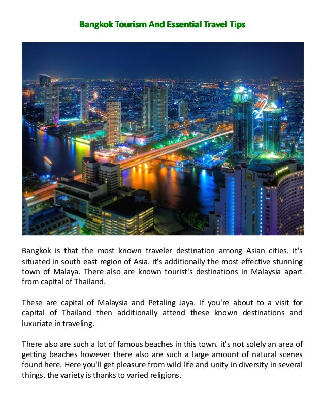 BangkokBangkokBangkokBangkok TTTTourismourismourismourism AAAAndndndnd EssentialEssentialEssentialEssential TravelTravelTr...