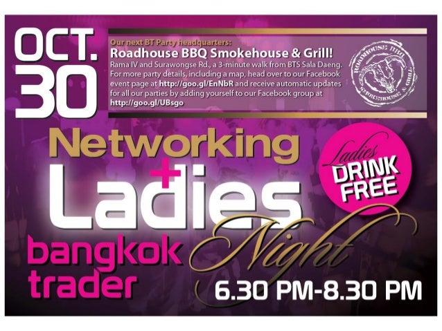 Bangkok Trader Networking + Ladies Night, 30th Oct. 2012