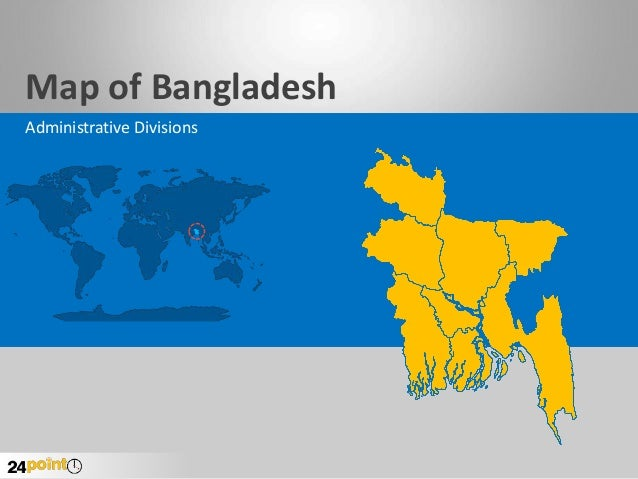 Map of Bangladesh Administrative Divisions