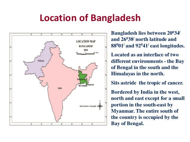 Bangladesh - Where is bangladesh located