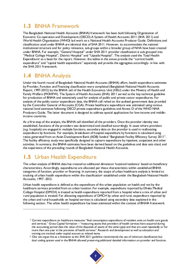 Estimating Bangladesh Urban Healthcare Expenditure Under the System o…