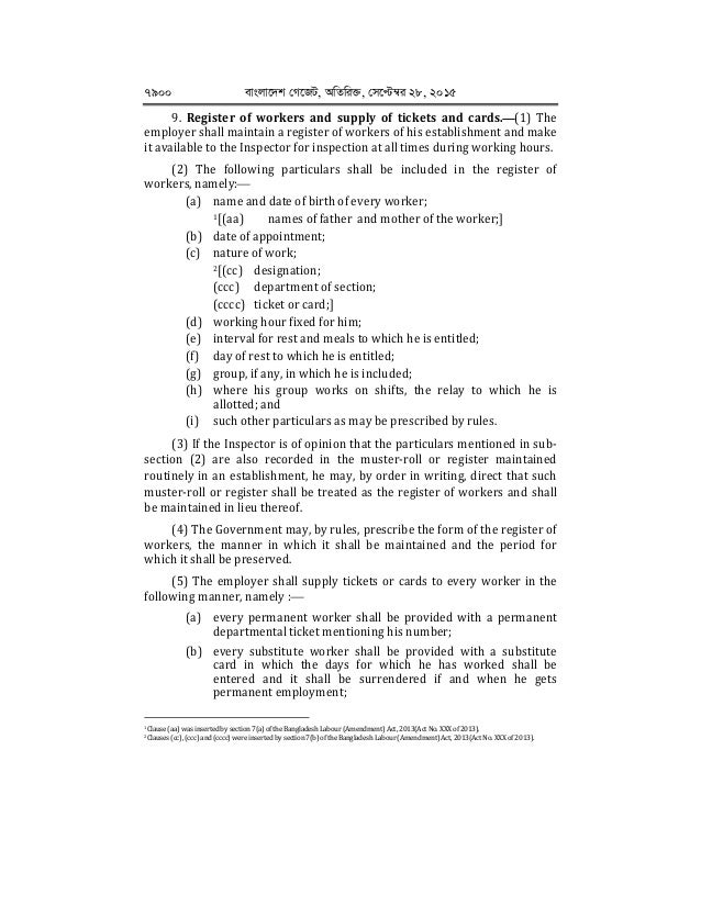 bangladesh labour act 2006 The bangladesh labour act 2006 had been amended with a special provision concerning safety and health, and trade union.