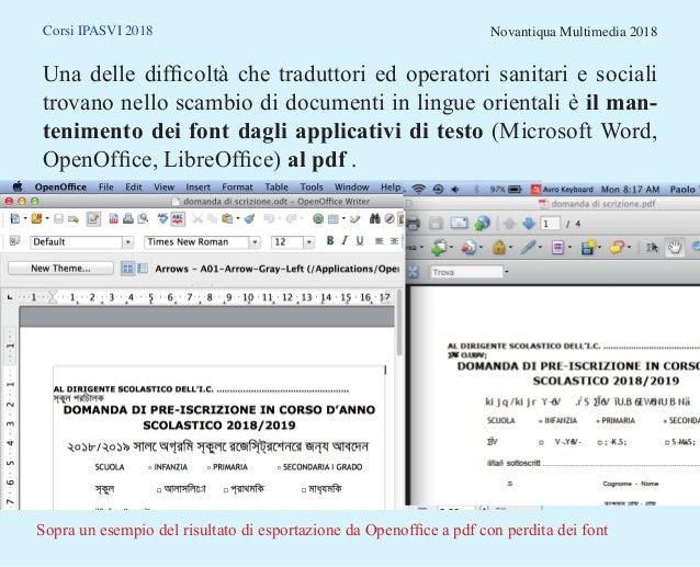 Lingue orientali e font: applicativi standard multipiattaforma Slide 2