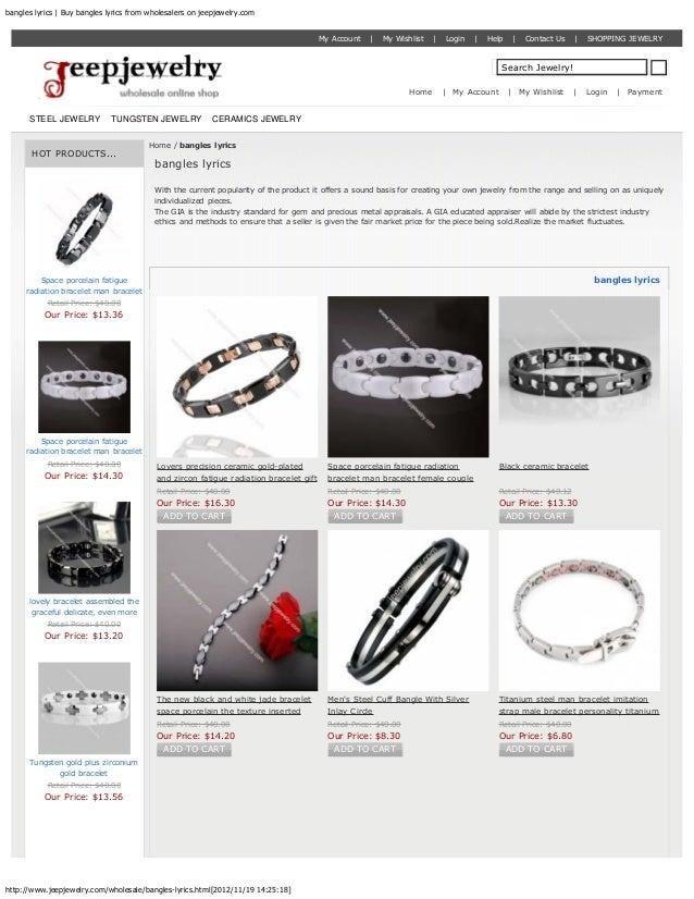 bangles lyrics   Buy bangles lyrics from wholesalers on jeepjewelry.com                                                   ...