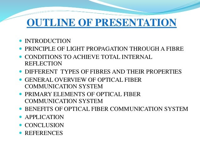 Ppt on optical fiber.