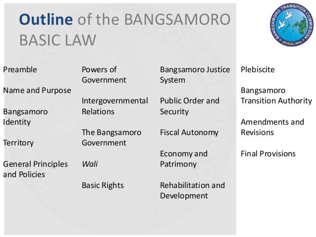 contitutional accomodation of bangsamoro Passage of the bangsamoro law has stalled multiple times because of clashes between the soldiers and armed told a constitutional reform panel on tuesday.