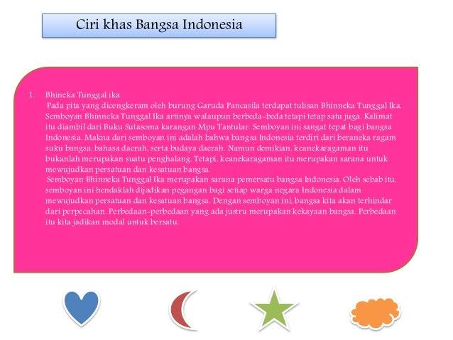 1. Bhineka Tunggal ika Pada pita yang dicengkeram oleh burung Garuda Pancasila terdapat tulisan Bhinneka Tunggal Ika. Semb...
