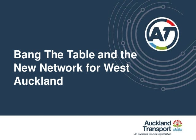 Bang The Table and the New Network for West Auckland
