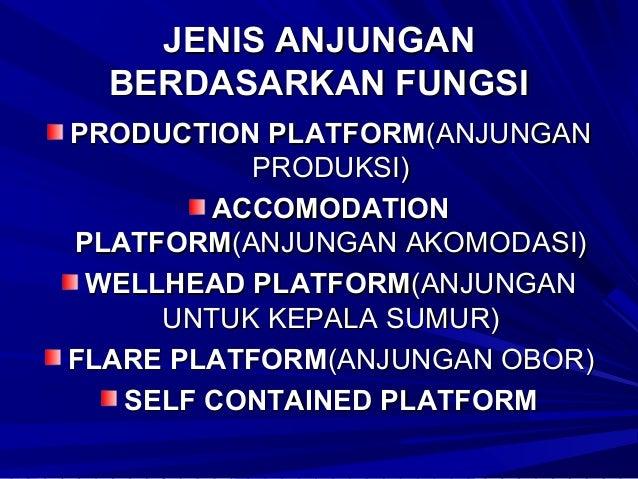 JENIS BANGUNAN TERPANCANG FIXED JACKET LEG OFFSHORE STRUCTURE : BANGUNAN INI BISA DIPAKAI SEBAGAI o KEPALA SUMUR(WELL HEAD...