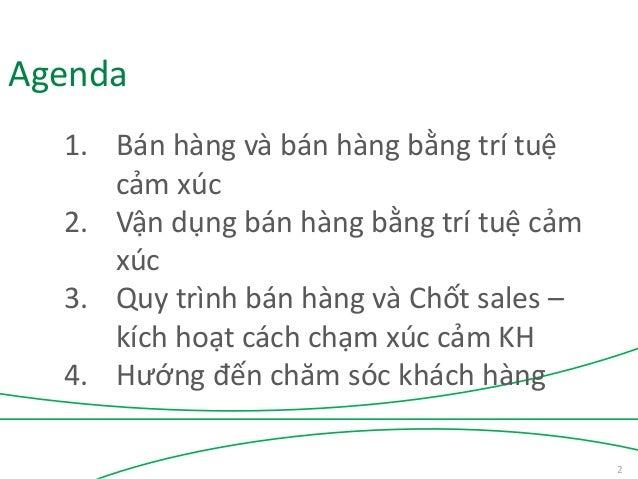 Bán hàng bằng trí tuệ cảm xúc - Sales EQ - TS Châu Đình Linh Slide 2
