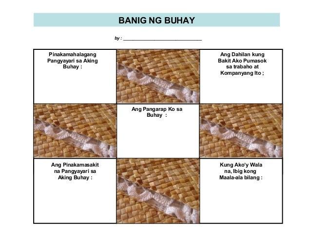 BANIG NG BUHAY by : _________________________________  Pinakamahalagang Pangyayari sa Aking Buhay :  Ang Dahilan kung Baki...